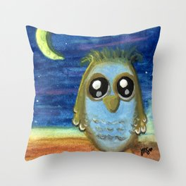 Living by the Light of the Moon Throw Pillow