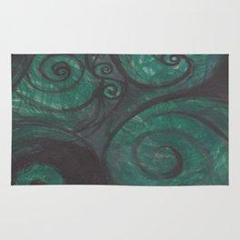 Swirl (black and green) Rug