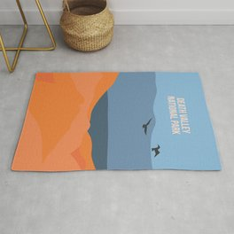 Winged Living Creatures Soaring High In Death Valley National Park Rug