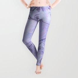 Marbly Lavender Leggings