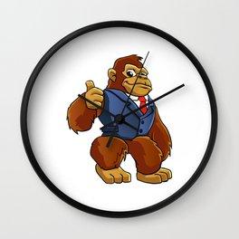 Gorilla in suit. Wall Clock