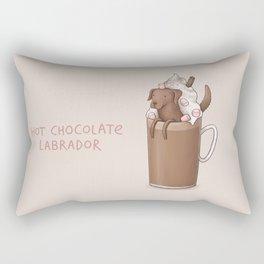 Hot Chocolate Labrador Rectangular Pillow
