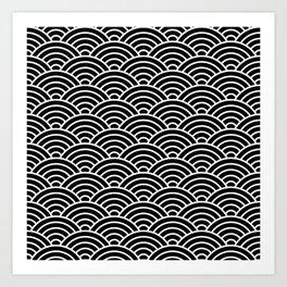 Japanese fan pattern Art Print