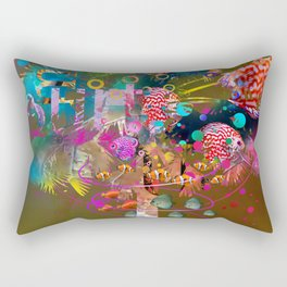 Palm tree in full color Rectangular Pillow