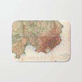 Vintage Map of San Francisco California (1858) Bath Mat