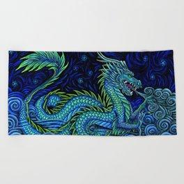 Chinese Azure Dragon Beach Towel