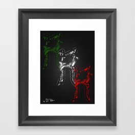 R - is for Rare - color version Framed Art Print