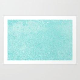 Pastel Teal Blue Grunge Ombre Pastel Texture Vintage Style Art Print