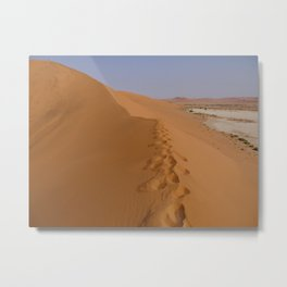 Footprints in the Dunes Metal Print