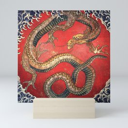 Dragon by Hokusai Mini Art Print