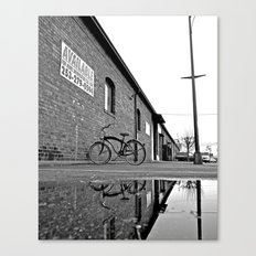 Former railroad depot Canvas Print