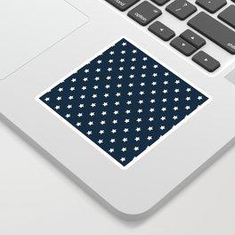 Dark Blue With White Stars Pattern Sticker