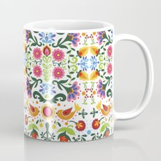 flower folk art Mug