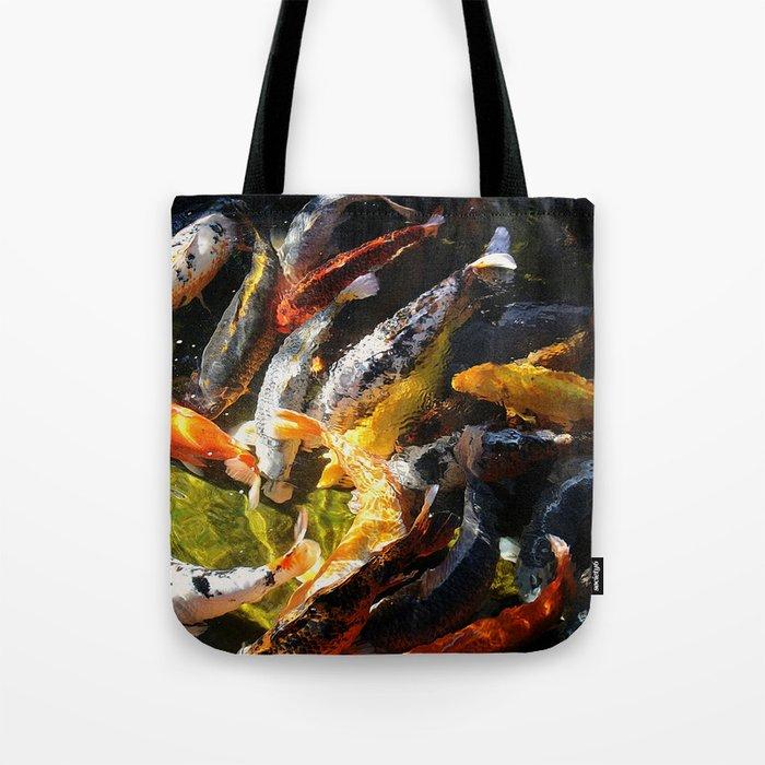 Koi fish abstract tote bag by artsandherbs society6 for Koi fish purse