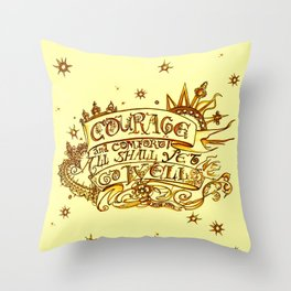 Courage & Comfort - King John Quote - Shakespeare Throw Pillow