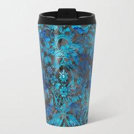 Watercolor Damask Pattern 07 Travel Mug