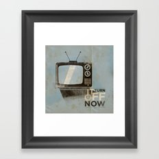 Tv ... Framed Art Print
