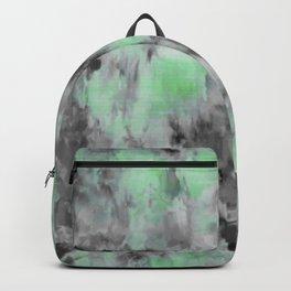 Grungey Black and Green Tie Dye Backpack