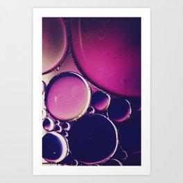 Deep Pink Purple  Art Print