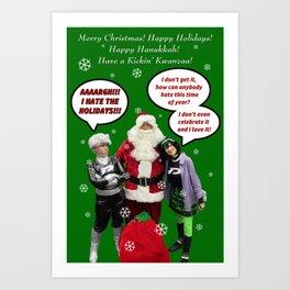 Danny Phantom Christmas and holiday card Art Print