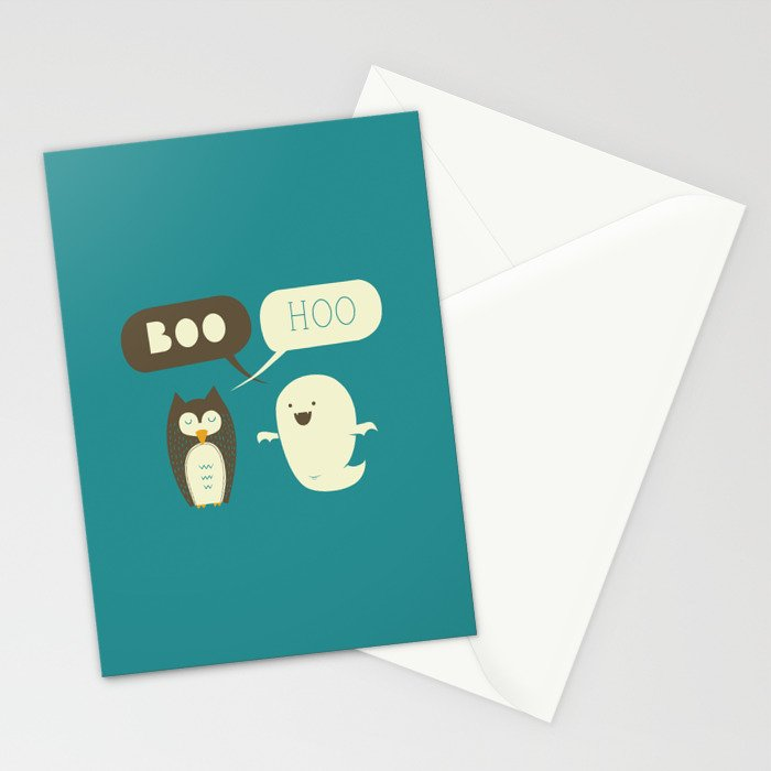 Boo Hoo Stationery Cards