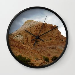 Buttes of New Mexico - On the Road to Santa Fe, No. 6 Wall Clock