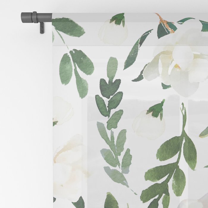 Magnolia Tree Sheer Curtain