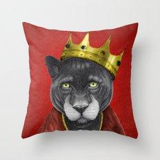 The King Panther Throw Pillow