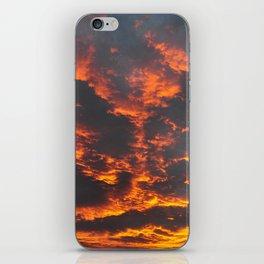 Incredible sunset. Lake Tekapo. New Zealand iPhone Skin