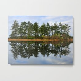 Coastal Lake Reflection Metal Print
