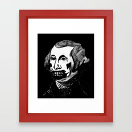 01. Zombie George Washington Framed Art Print
