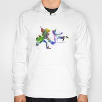 captain hook Hoodies featuring Peter Pan and Captain Hook in watercolor by Paulrommer