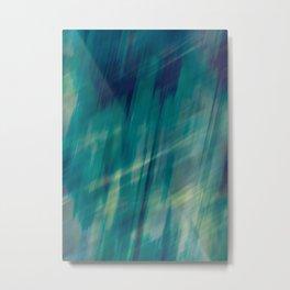 Submerge Aqua Metal Print