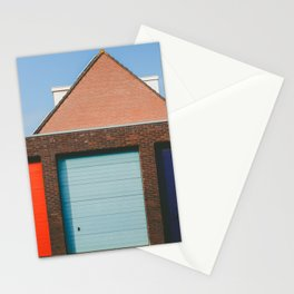 Colorful Garage doors in Amsterdam Stationery Cards