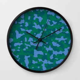 Shaded Meadow Camouflage Wall Clock