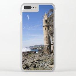 Pirate Tower Laguna Beach Clear iPhone Case