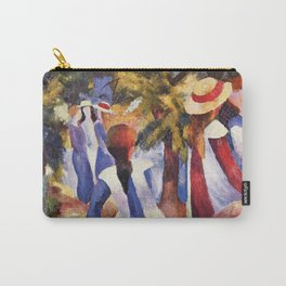 Girls Under Trees, August Macke, 1914 Carry-All Pouch