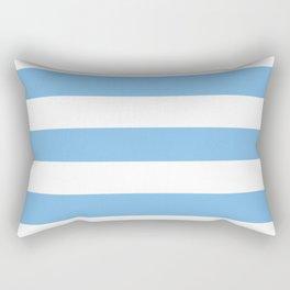 Aero - solid color - white stripes pattern Rectangular Pillow