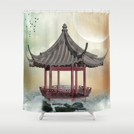 Oriental Gazebo Shower Curtain
