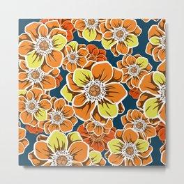 Mandala Flowers 10 Metal Print