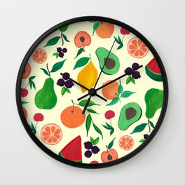 Eat your fruits! Wall Clock