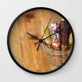 chocolate pretzels Wall Clock