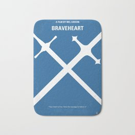 No507 My Braveheart minimal movie poster Bath Mat