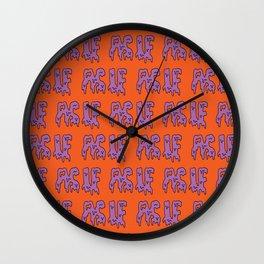As If Slime -- Orange Wall Clock