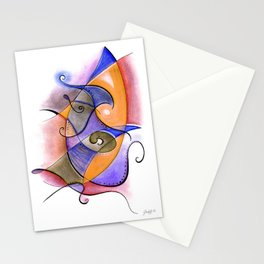 Orange and Purple Anxious Stationery Cards