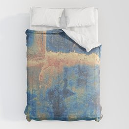 Rusted Metal Plates Abstract Comforters