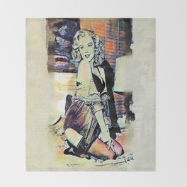 By Lamplight Throw Blanket