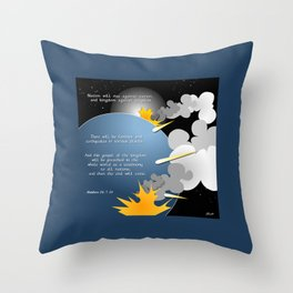 Nation Will Rise Against Nation Throw Pillow
