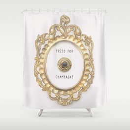 Press For Champagne Shower Curtain