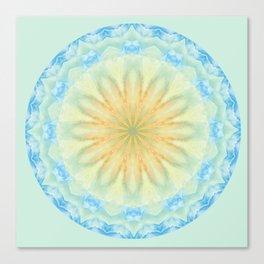 Tye Dye Flower Mandala Canvas Print
